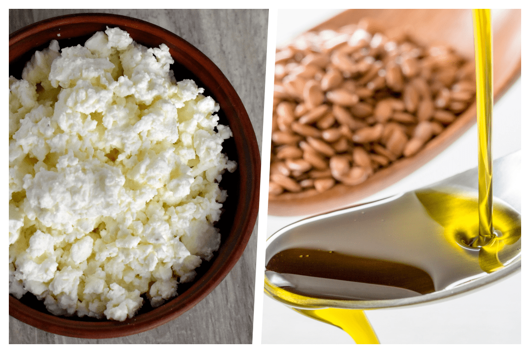 Flaxseed-Oil-and-Cottage-Cheese-mix